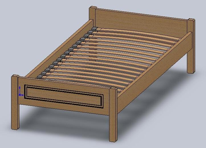 Как сделать двуспальную кровать из дерева своими