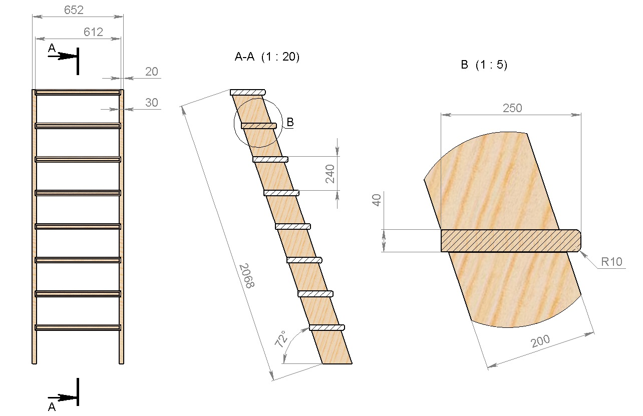 Как сделать приставной лестницы