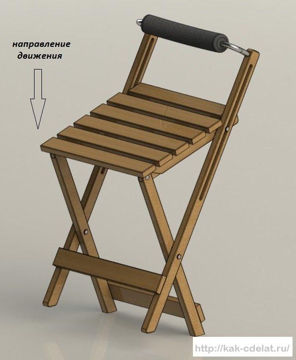 как сделать раскладной стул с металла для рыбалки