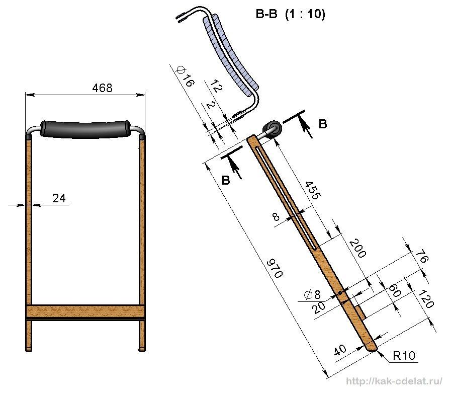чертежи складного стула для рыбалки