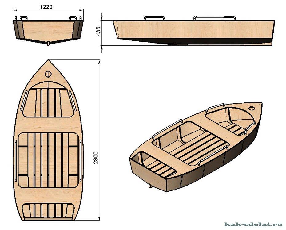 параметры деревянной лодки