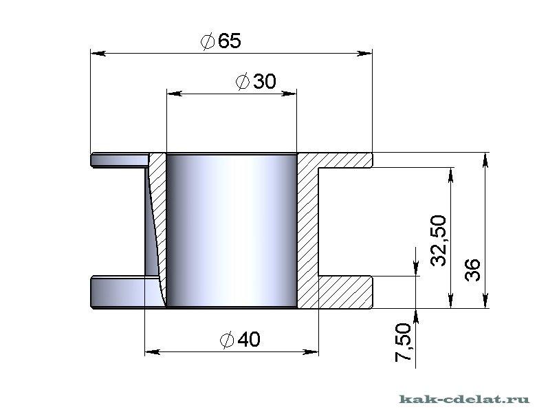 Чертеж для трубогиба для профильной трубы 116