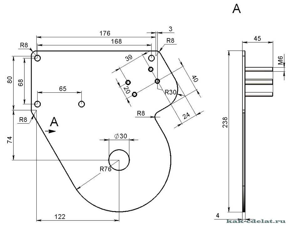 Как сделать трубогиб для профильной трубы своими