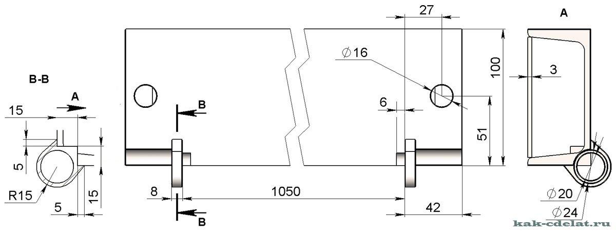 Чертежи гибочного станка для листового металла своими руками 14