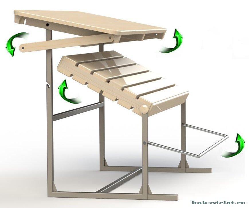 Как сделать лавку-стол (трансформер) своими руками - Моя дача
