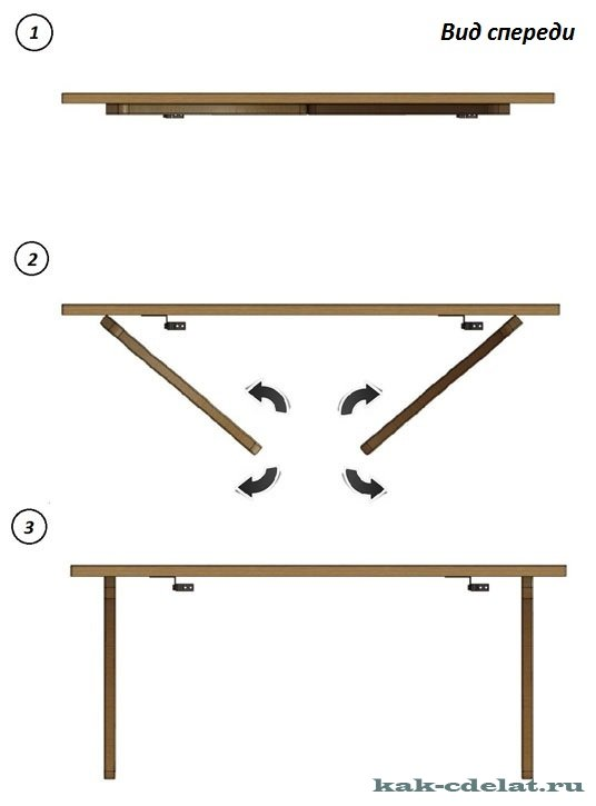 Кухонный откидной стол своими руками фото 252