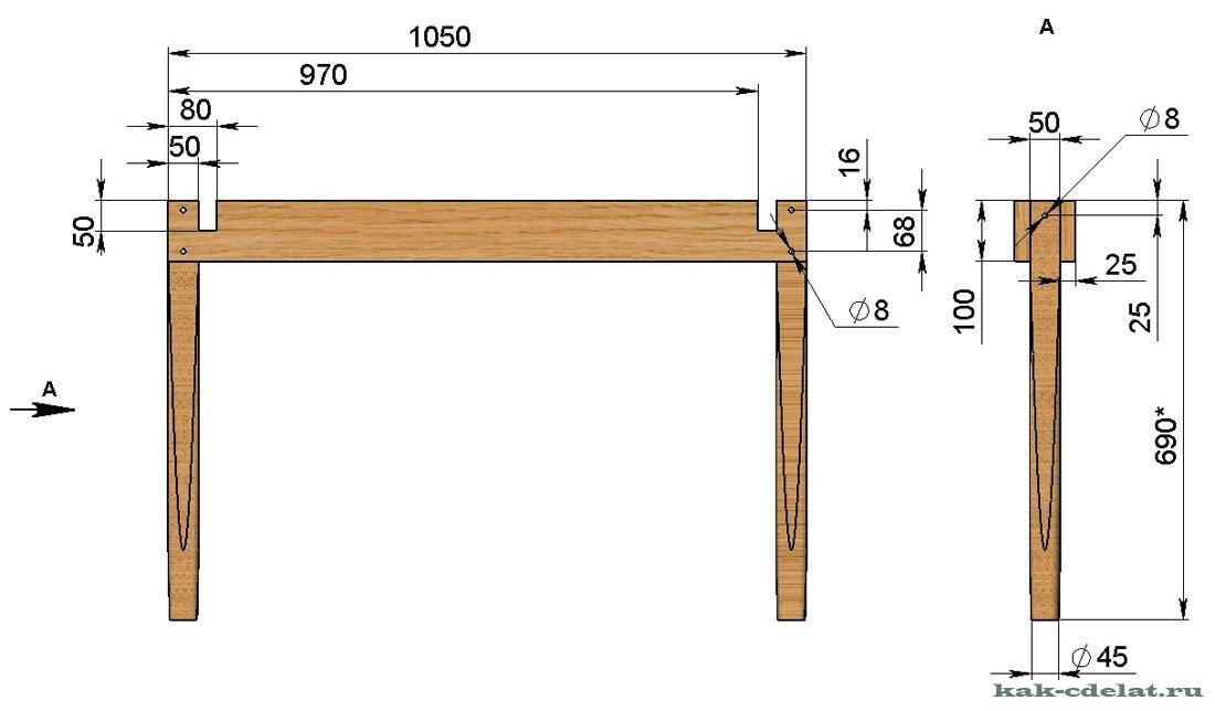 Маникюрный стол своими руками по чертежу 170