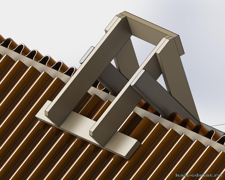 Лестница для крыши своими руками чертежи 917