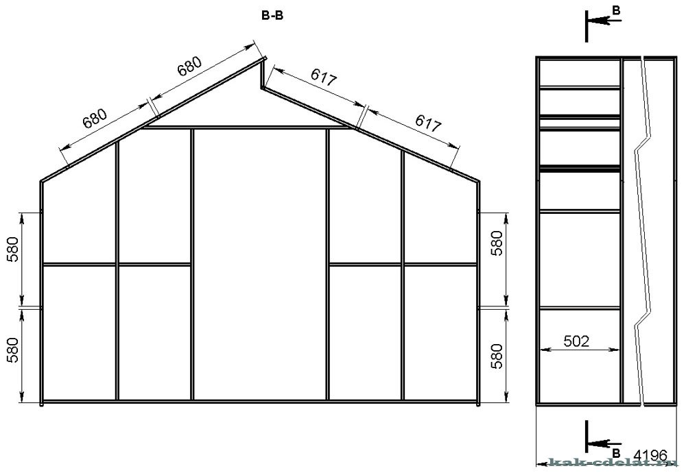 Деревянная теплица из поликарбоната своими руками чертежи 8