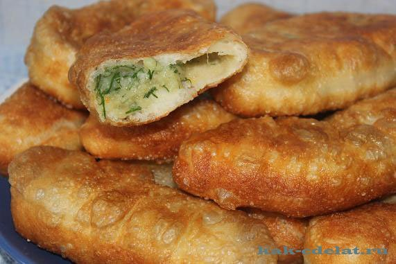 Пирожки жареные с картошкой рецепт с фото пошагово