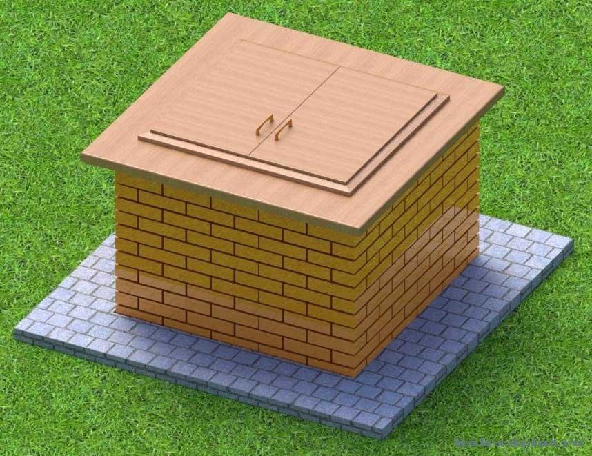 Как сделать квадратные колодец 146