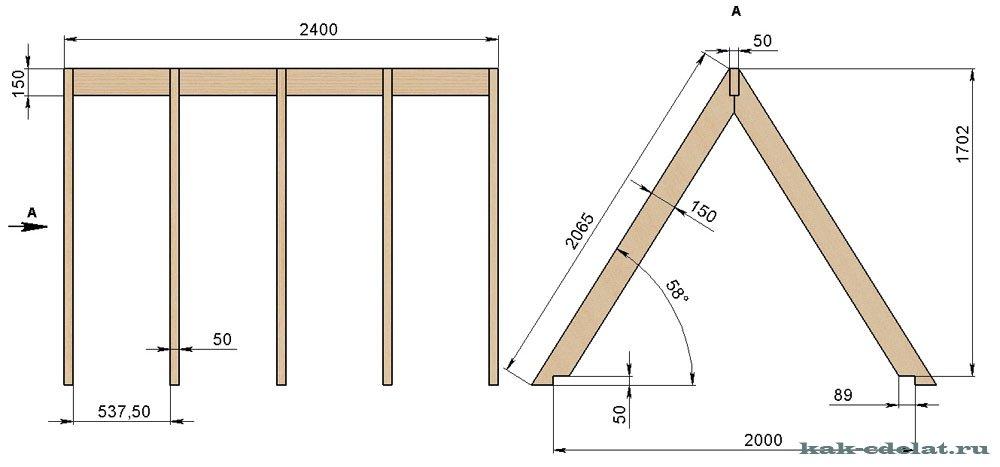 Как сделать крышу для домика своими руками 136
