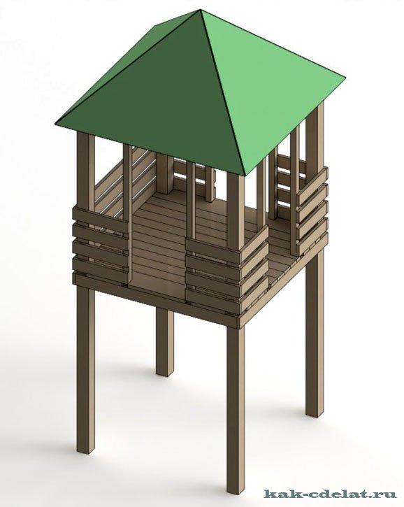 Как сделать домик из дерева своими руками