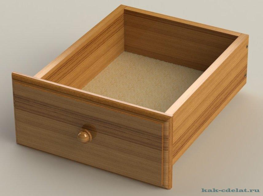 Как сделать шкатулка с выдвижным ящиком