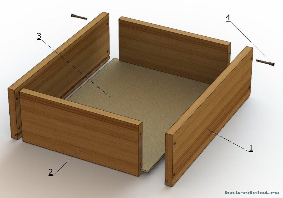 Как сделать выдвижной ящик