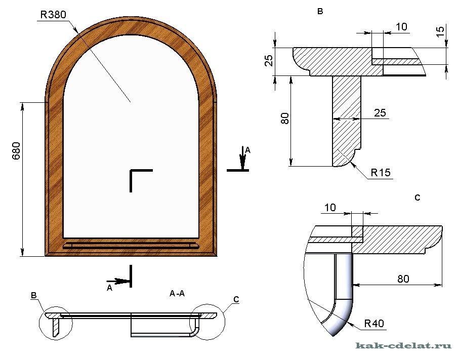 Рамка для зеркала своими руками чертежи