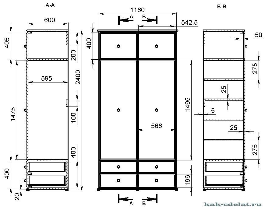 Встроенный шкаф купе своими руками: экономия пространства и 88