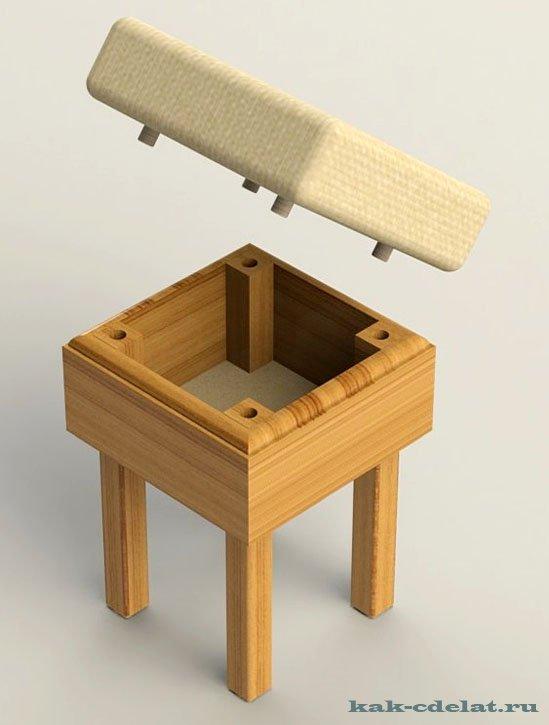 Как сделать пуф для хранения своими руками