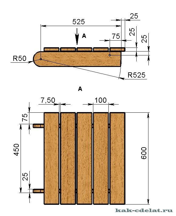 Как сделать деревянный лежак