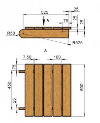 Как сделать деревянный лежак своими руками чертежи