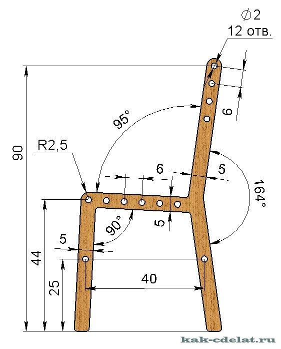 Детские столы и стулья своими руками из дерева чертежи 34