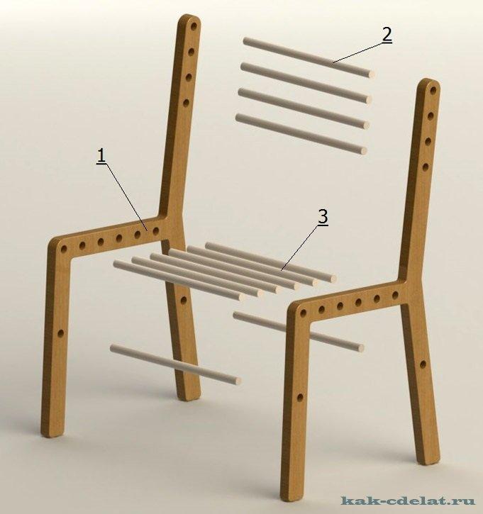 Как сделать под стульчик