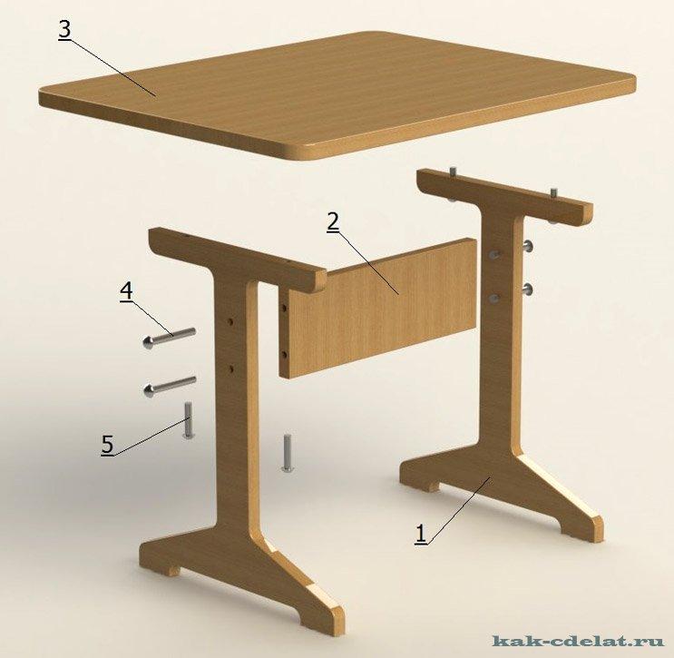 Как можно сделать стол своими руками 14