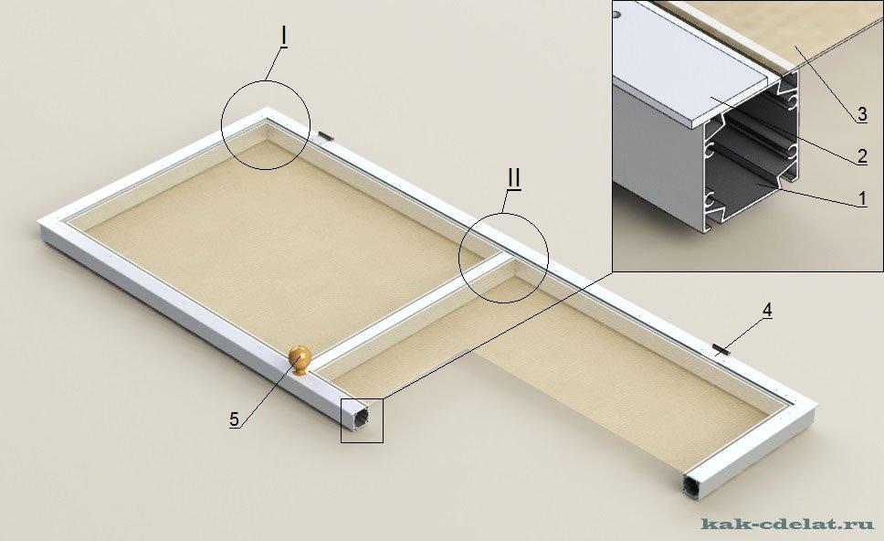 Мебель с алюминиевого профиля своими руками